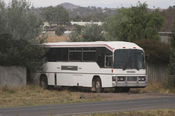 Retired Collins Bus Service road coach outside Ararat