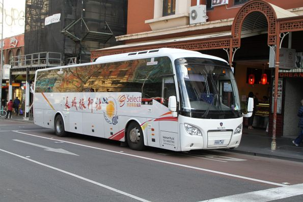 Hotelmart tourist coach 9468AO at Lonsdale and Swanston Street