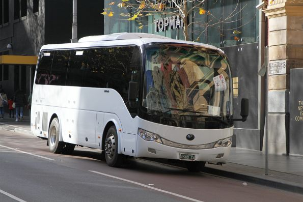 Tourist coach BS00ZX at Lonsdale and Swanston Street
