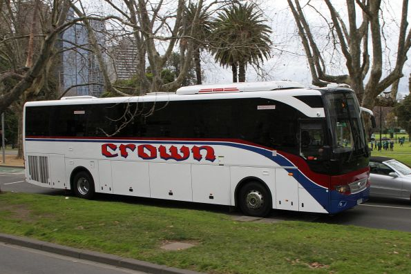 Crown Coaches coach 4103AO on St Kilda Road at the Arts Centre
