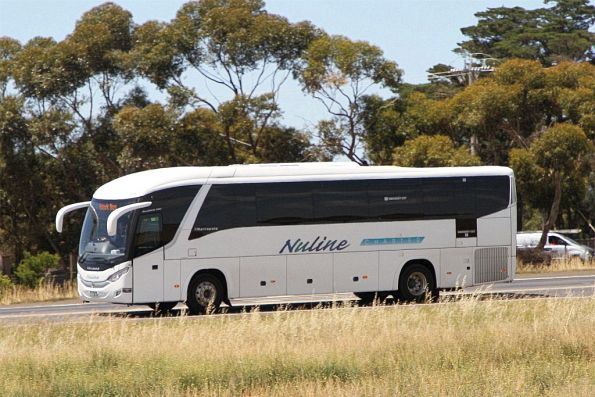 Nuline Charters coach on Hopkins Road, Rockbank