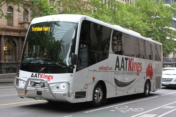 AAT Kings #28 BS04GL heads north at William and Little Collins Street