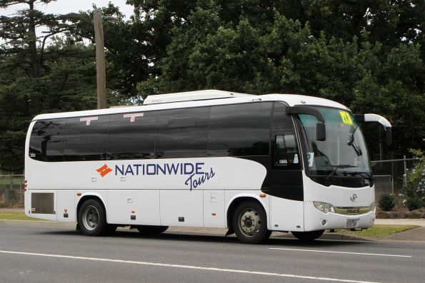 Nationwide Tours coach #300 9163AO on Anderson Road, Sunshine