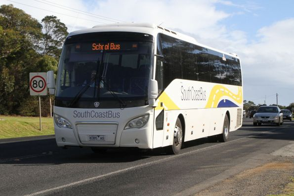 South Coast Bus coach #132 8385AO heads along Phillip Island Road in Newhaven