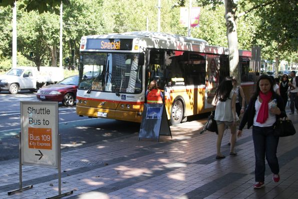 Sita bus #117 8464AO on 'route 109' at the Arts Centre on St Kilda Road