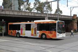 Ventura bus #1014 9119AO heads north at Market and Flinders Street with a route 109 cruise ship shuttle