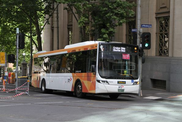 Ventura bus #1292 BS02LU at Market Street and Flinders Lane with a route 109 cruise ship shuttle
