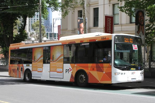 Ventura bus #664 8226AO at Market Street and Flinders Lane with a route 109 cruise ship shuttle