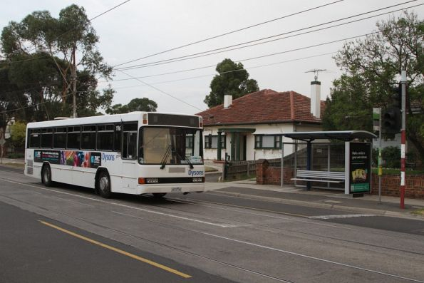 Dysons #116 rego 4272AO heads west on Maribyrnong Road with a route 82 replacement service