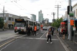 B2.2115 on route 1 terminates at Park and Clarendon Street due to the royal tram ride down at South Melbourne