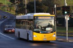 Cranbourne Transit #4 rego 3210AO on Farnsworth Avenue bound for Flemington Racecourse