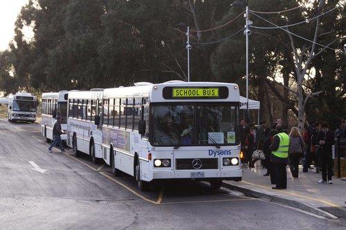 More buses waiting at the Flemington Racecourse interchange