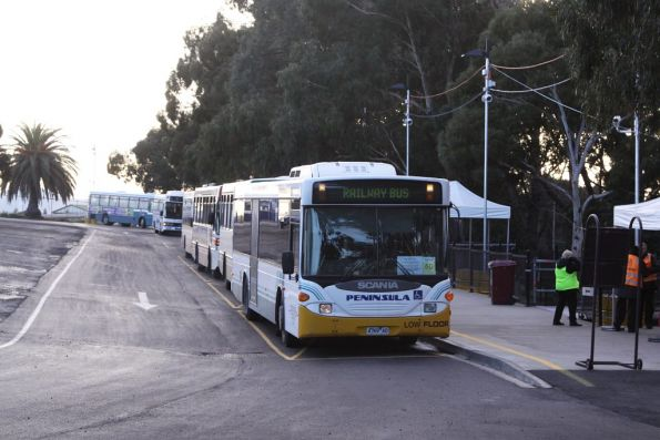 Still more buses up at the Flemington Racecourse interchange