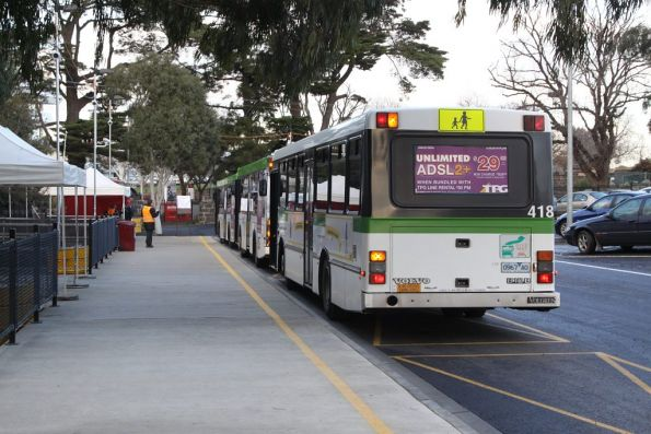 Western end of the Flemington Racecourse bus interchange