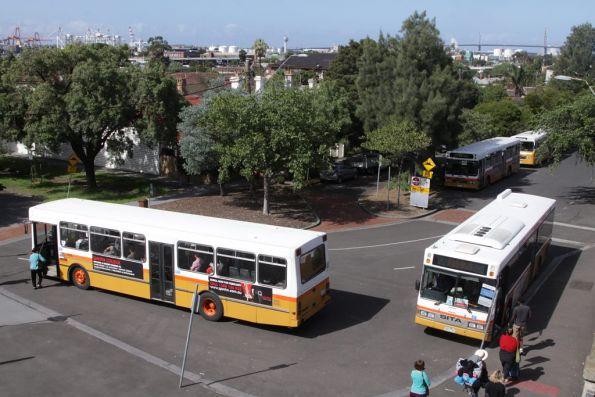 Sita buses at Footscray station, running Sydenham line rail replacement services