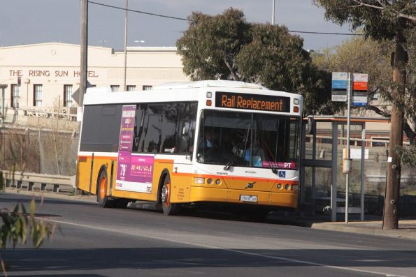 Sita #102 rego 7929AO on a Sunbury line rail replacement service at West Footscray