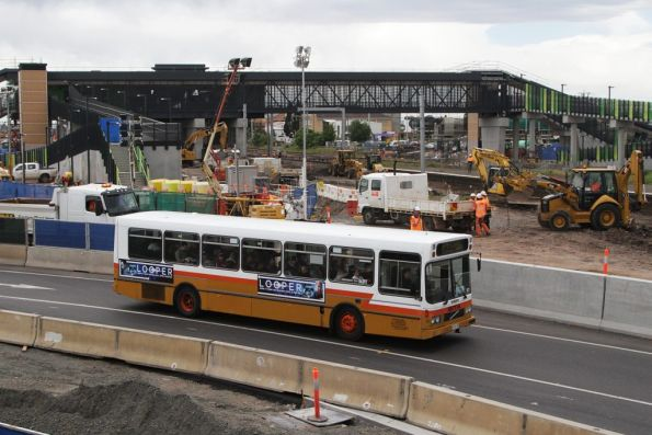 Sita operated bus passes the new West Footscray station