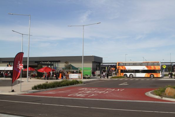 CDC Melbourne double decker bus on display at the Tarneit open day