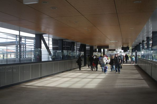 Visitors on the station concourse at Wyndham Vale