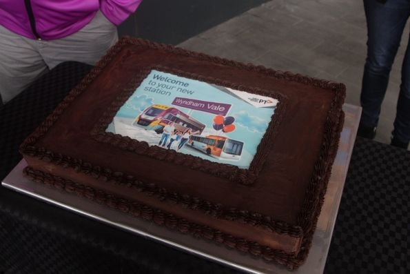 PTV branded cake at the Wyndham Vale station open day