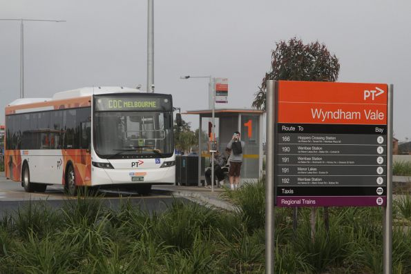 CDC Melbourne bus #129 BS00RQ running a shuttle service to the Wyndham Vale station open day