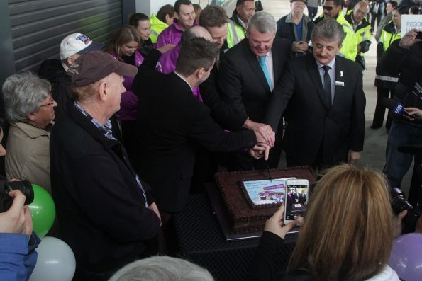 Dignitaries but the cake at Wyndham Vale