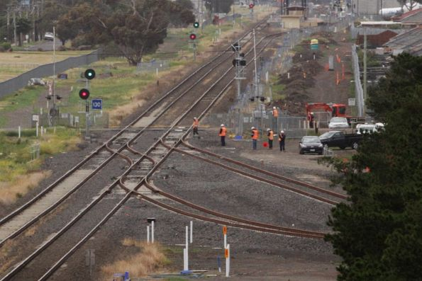 Points at Deer Park Junction have been thrown for the RRL tracks