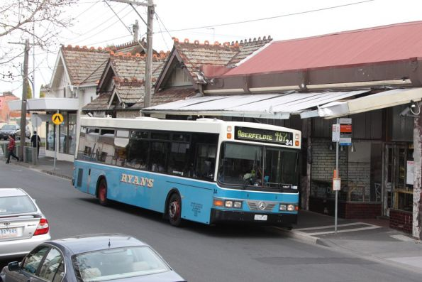 Ryans #34 2234AO outside Moonee Ponds station with a route 467 service to Aberfeldie