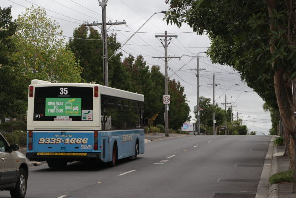 Ryans bus #35 rego 2235AO on route 467 along Holmes Road