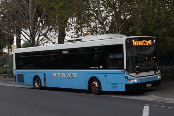 Ryans Bus Lines #45 2245AO on a route 468 service at Essendon station