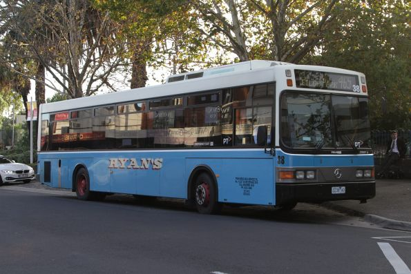 Ryans Bus Lines #38 2238AO on a route 465 service at Essendon station