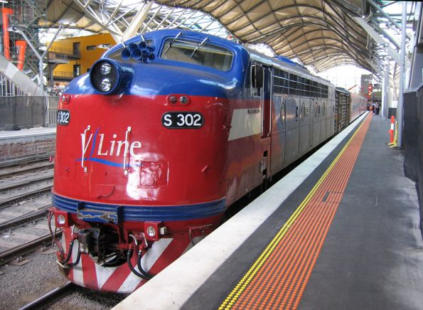S302 awaiting departure from Southern Cross on the usual Warrnambool run