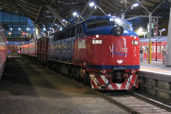 S302 at Southern Cross on the last day of service with V/Line