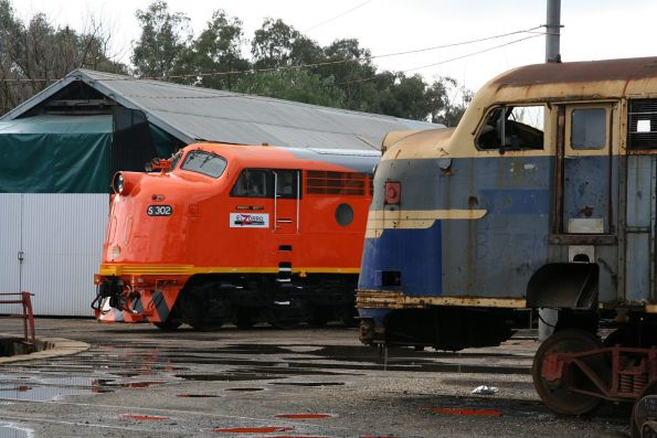 Beside B75 at the Seymour loco turntable