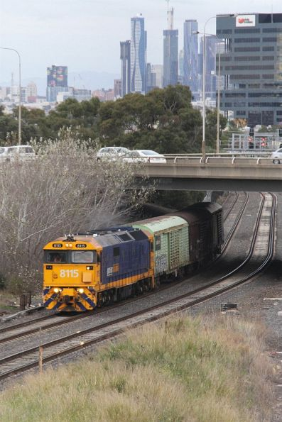 8115 leads three vans on the down Sadleirs transfer through West Footscray