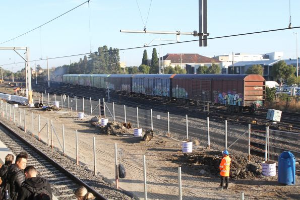 Unknown NR, NR97 and AN5 lead the down Sadleirs transfer past West Footscray