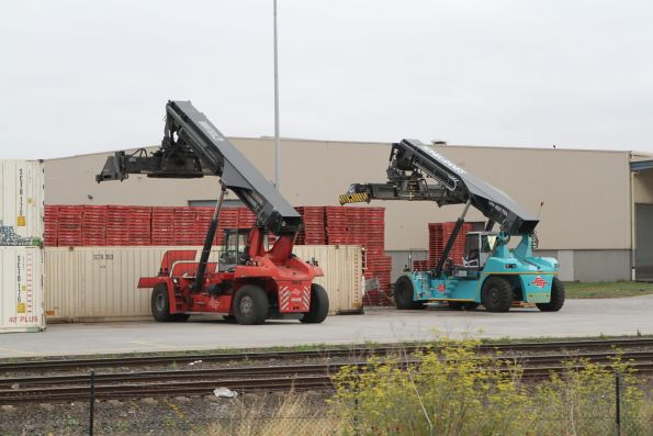Reach stackers at the SCT Altona depot