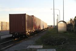 SCT loading in the siding at Swanson Dock West