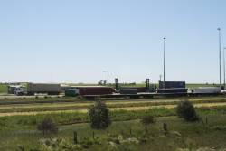Down end of the Wimmera Intermodal Freight Terminal at Dooen