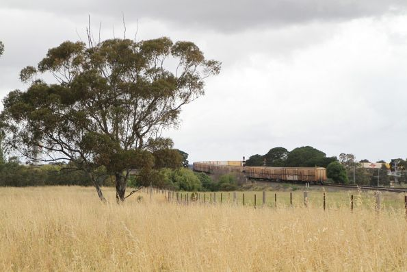 Tail end of BM9 passes over the Tottenham Triangle bound for Laverton