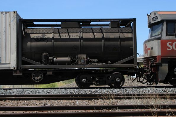Inline fuel tanker in the consist of BM9