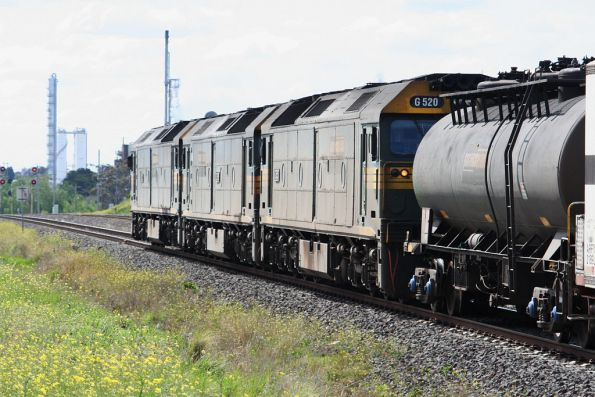 Fuel tanker trailing the triple G classes