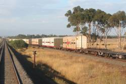 Overtaking the SCT train between Lara and Little River