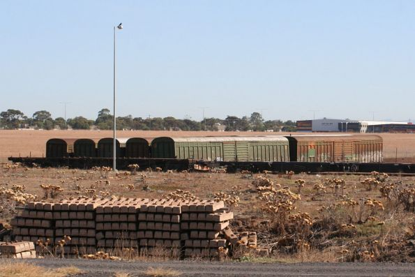 The first set of stored ABFY wagons on the ground