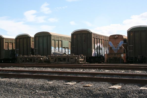 Westrail H class (H1?) loco and ABFY wagons stored at SCT Laverton