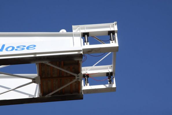 End detail of the launching truss for the Onkaparinga River bridge