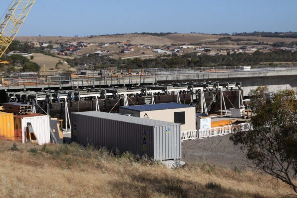 Steel formwork at the north end of the Onkaparinga River bridge