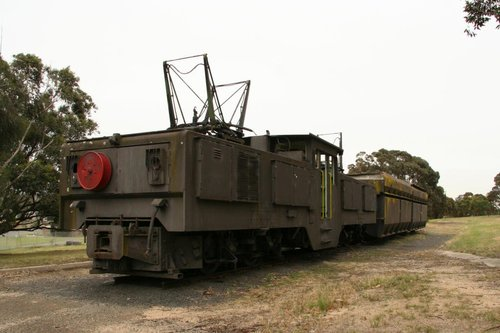 '62 Ton' electric locomotive No. 125 plinthed outside the PowerWorks centre in Morwell