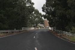 Disused overbridge on Hazelwood Drive