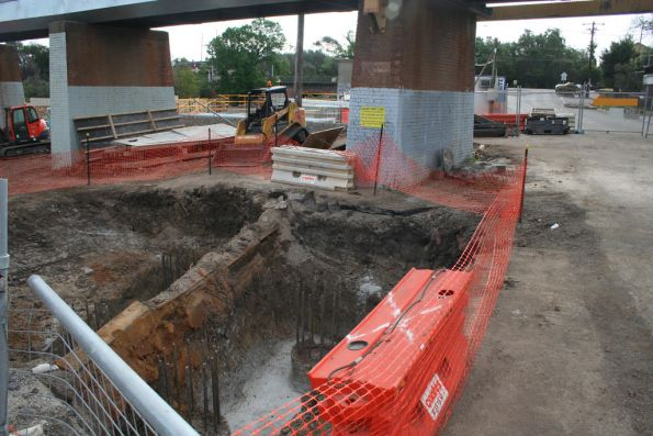 Foundations for a pier for the new Merri Creek bridge
